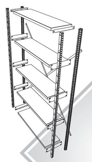 GS3 Legbordstelling 2000x300x980 met 4 legborden beginsectie